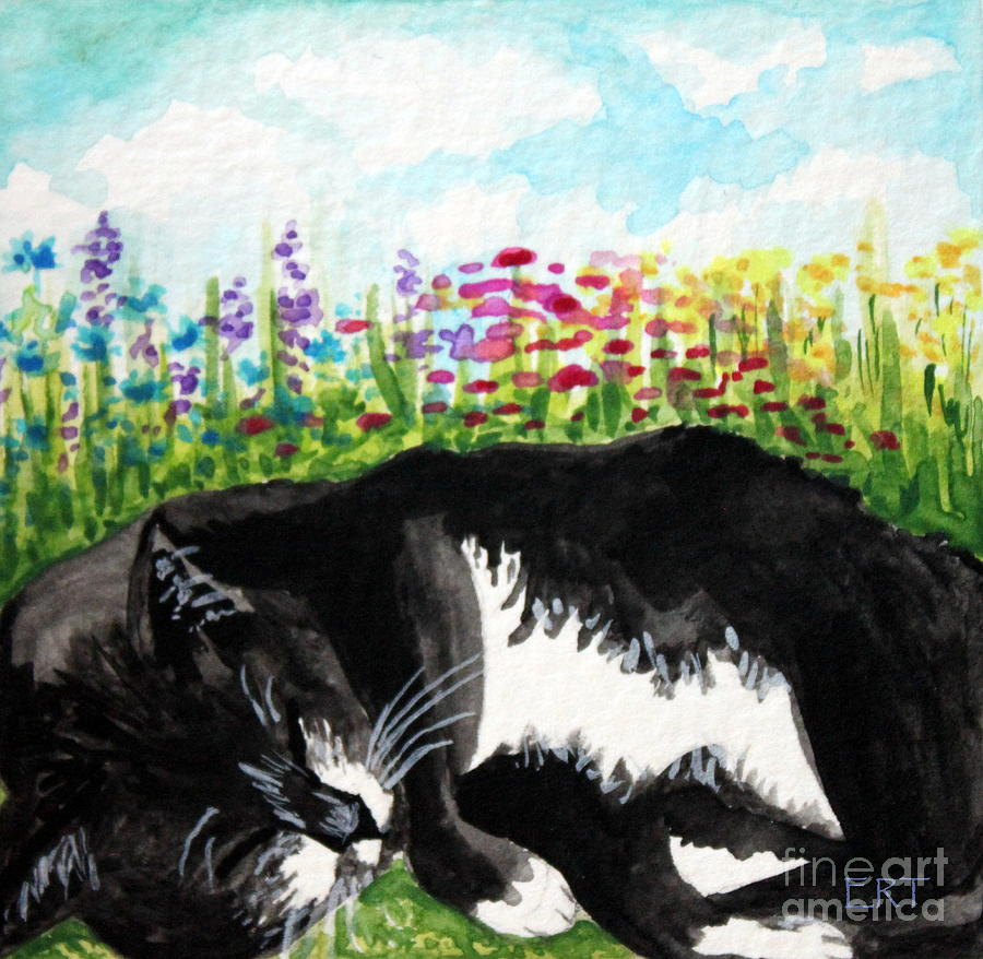 Cats Painting - Time For A Snooze by Elizabeth Robinette Tyndall