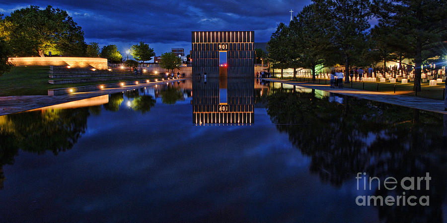 Oklahoma City Memorial Photograph - Time For Reflection by Gib Martinez