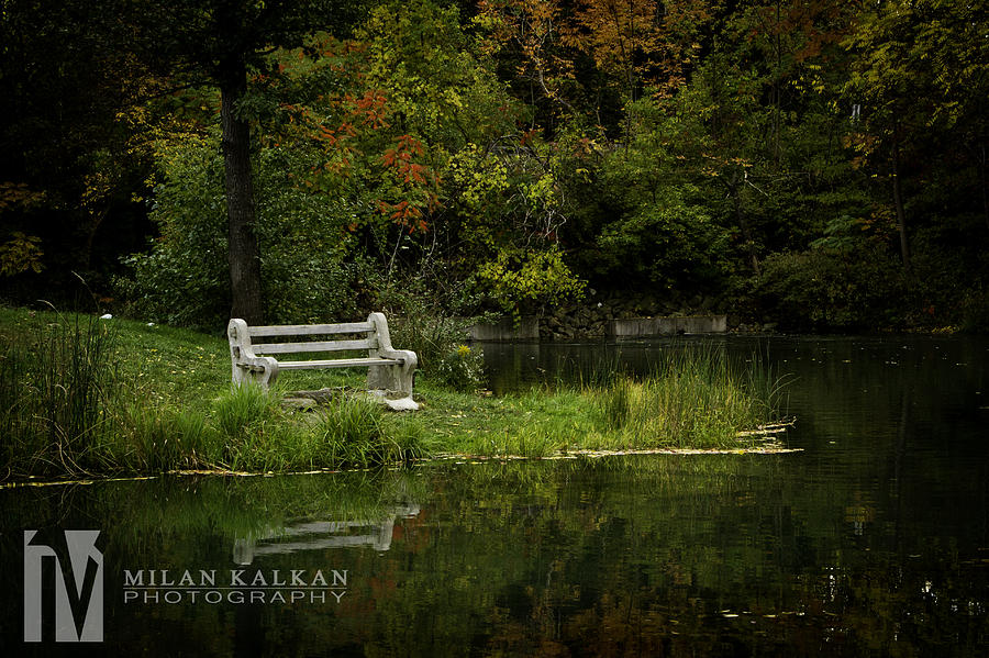 Bench Photograph - Time Out by Milan Kalkan