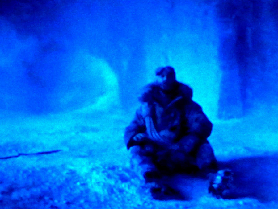 Colette Painting - Time Stopped In A Huge Snow Ice  Grotte by Colette V Hera  Guggenheim