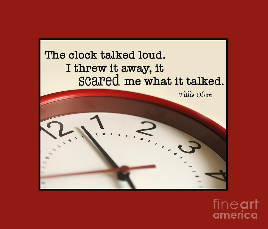 Time Photograph - Time Talks by Nancy Greenland
