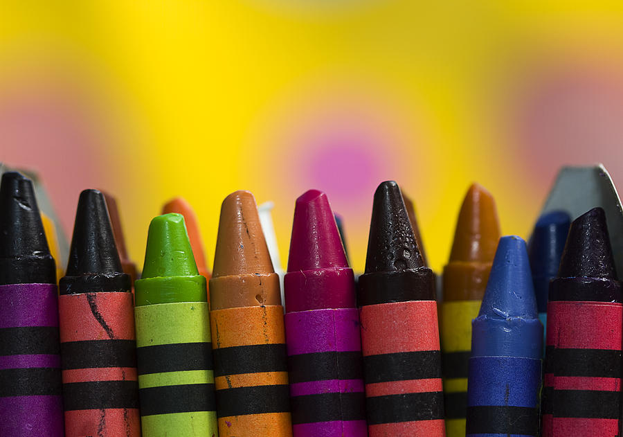 Crayons Photograph - Time To Color by Trudy Wilkerson