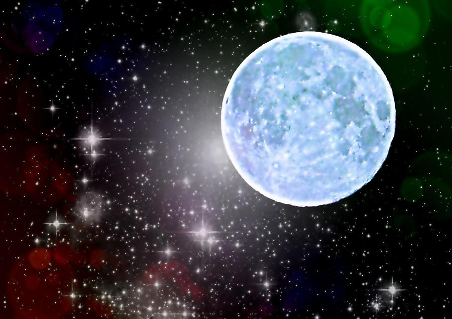 Blue Moon Photograph - Time Travel by Marianna Mills