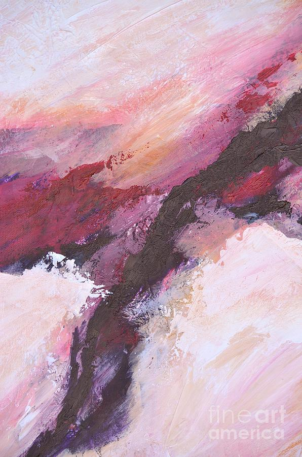 Abstract Painting - Time Warp Snow Storm by Barbara Tibbets