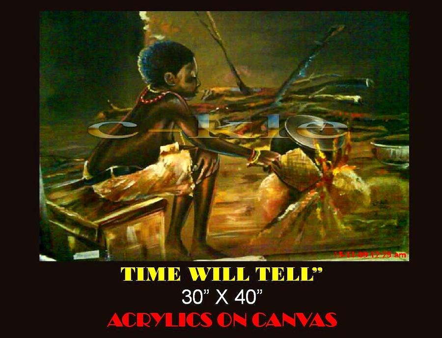 Time Will Tell Painting by Clement Martey