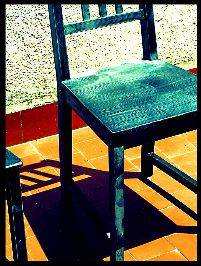 Chair Photograph - Timeout by Guadalupe Nicole Barrionuevo