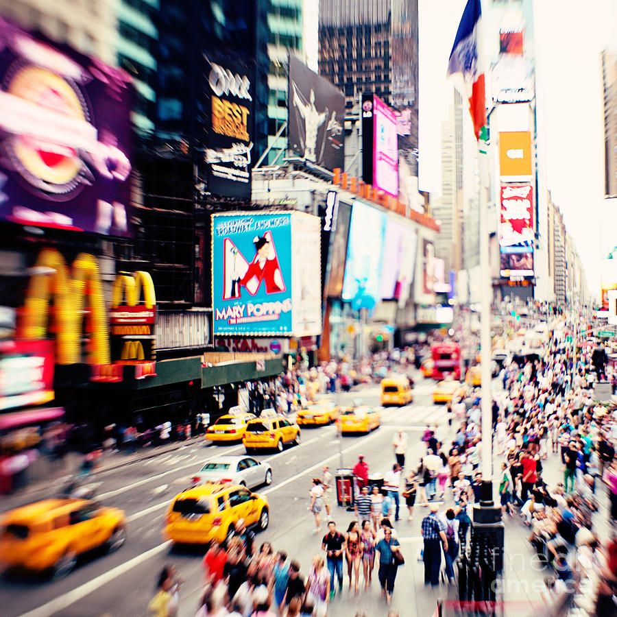 Time Square Photograph - Times Square New York City by Kim Fearheiley
