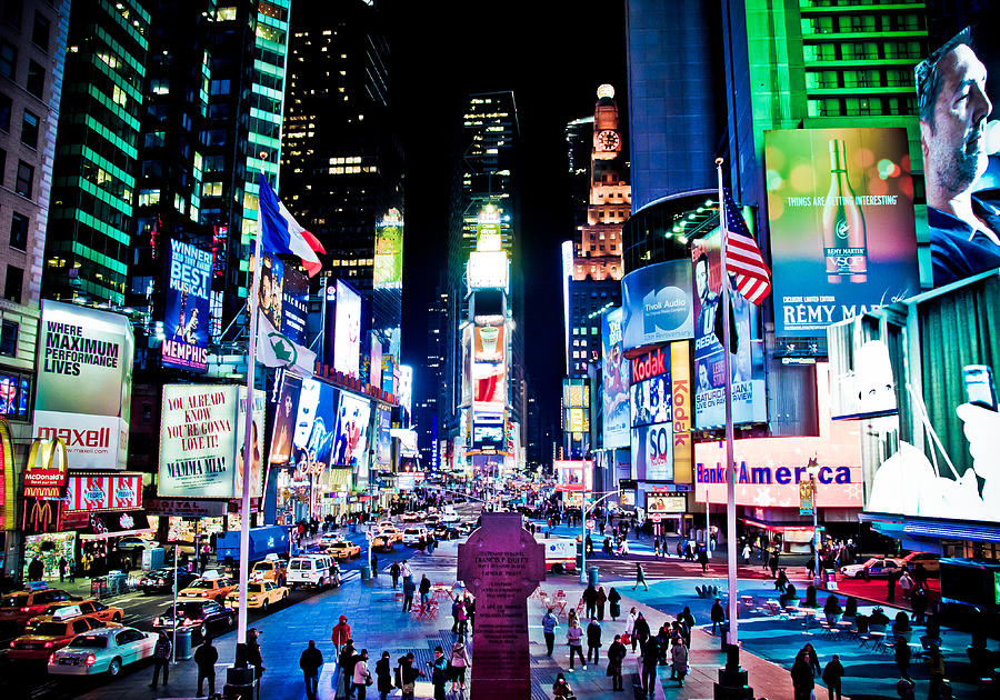 Times Square Photograph - Times Square by Tim Eisenhauer