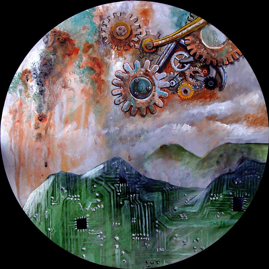 Tin Dream Painting by Rust Dill