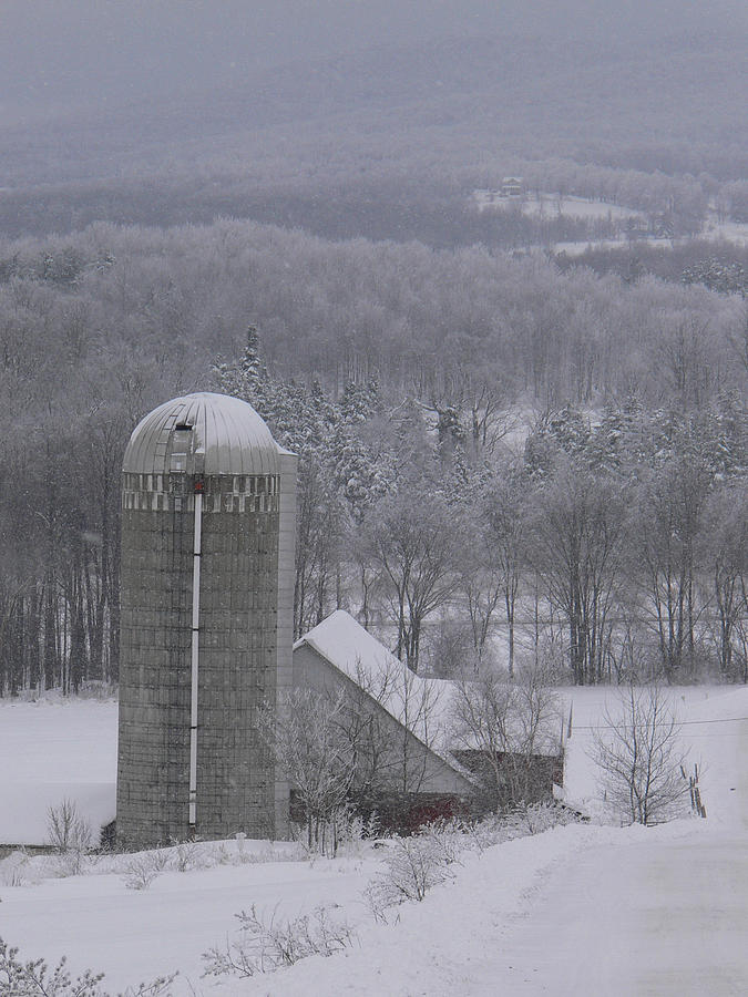 Vermont Farm Photograph - Tinted Winter by Natalie LaRocque