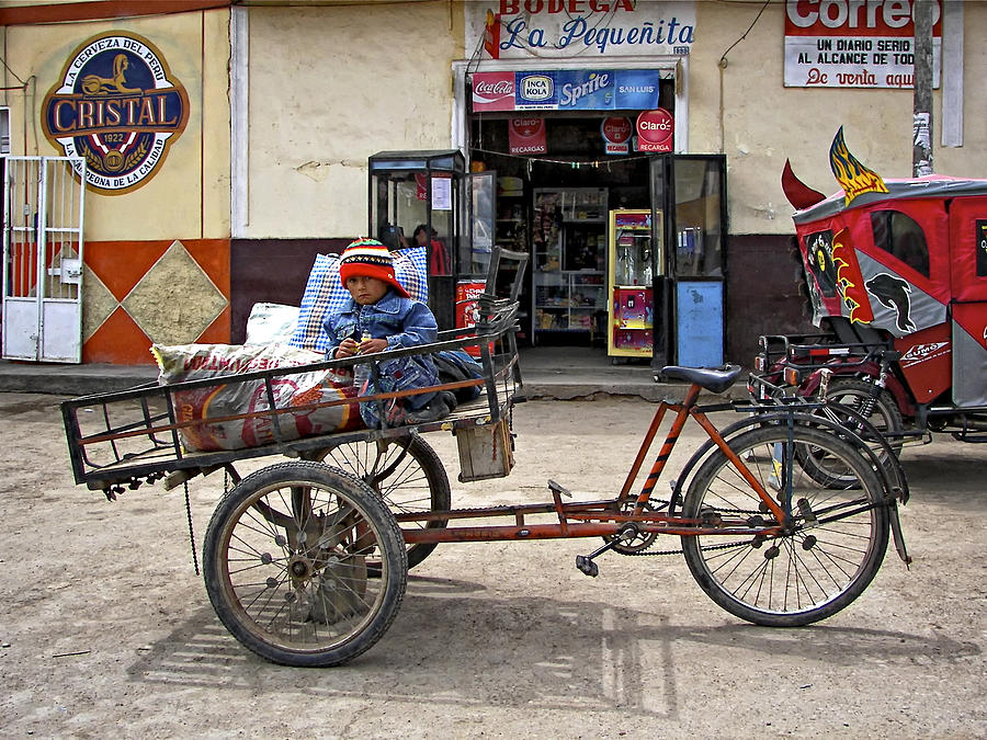 Peru Photograph - Tiny Biker by Steve Harrington