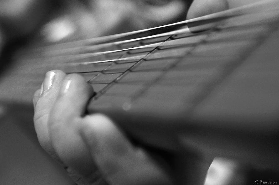 Guitar Photograph - Tiny Hands  by Susan Bordelon