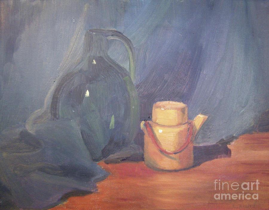 Still Life Painting - Tiny Tea by Lilibeth Andre