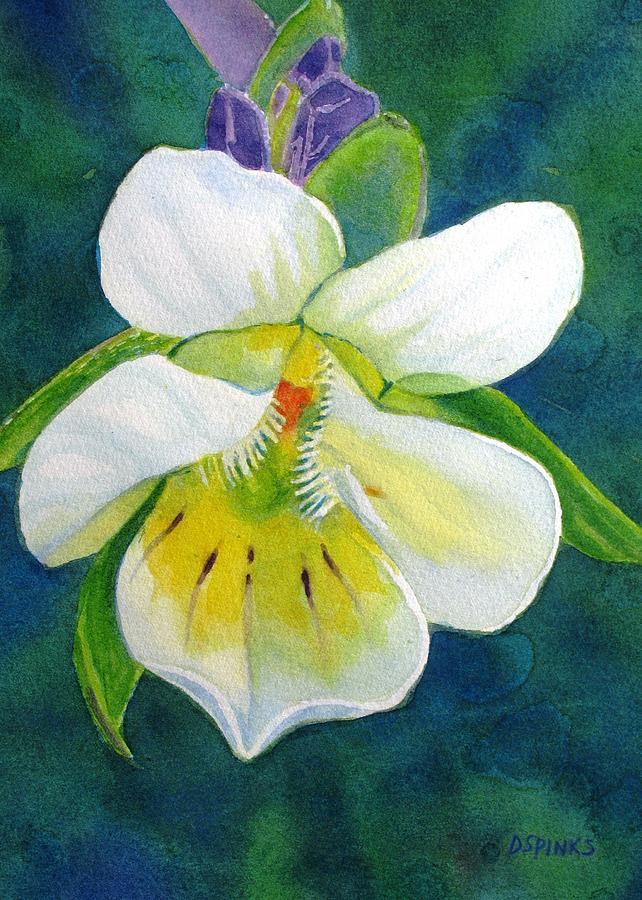 Wildflower Painting - Tiny Wildflower by Debra Spinks