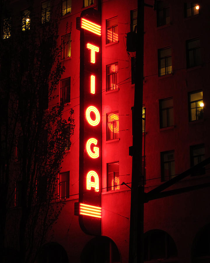 Tioga Photograph - Tioga Hotel in Coos Bay Oregon by Gary Rifkin