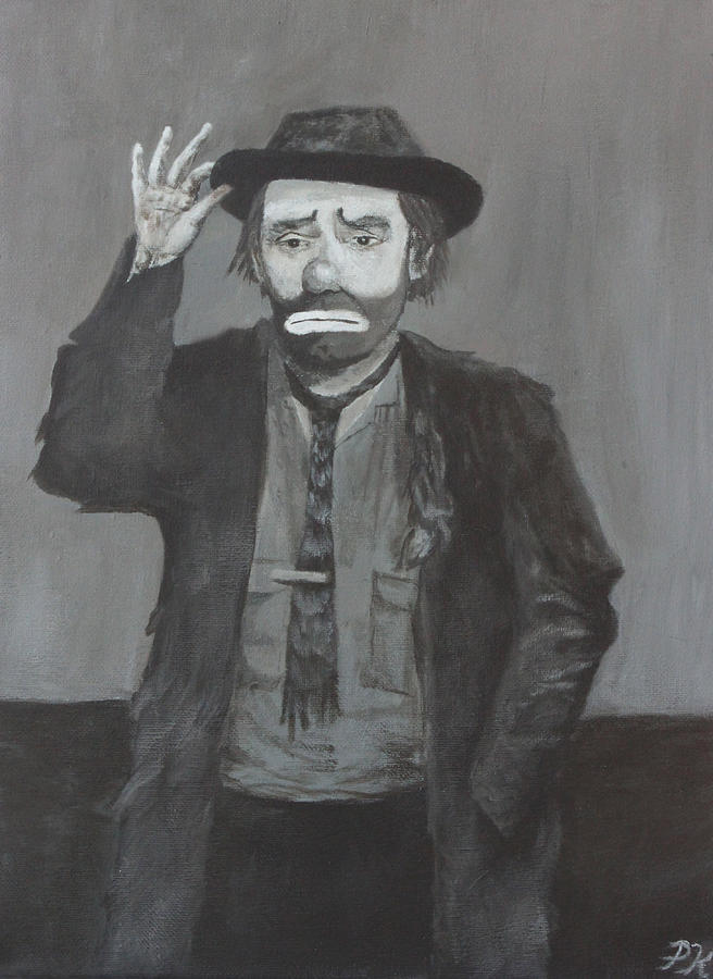 Emmett Kelly Painting - Tip Of The Cap by Patrick Kelly
