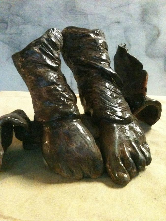 Feet Sculpture - Tippy Toes by Holly  Suzanne