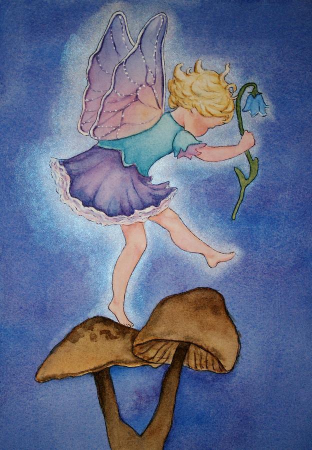 Fairy Painting - Tiptoe Fairy by Leslie Redhead