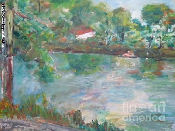 Painting - Tisza Landscape by Ilona Pincse