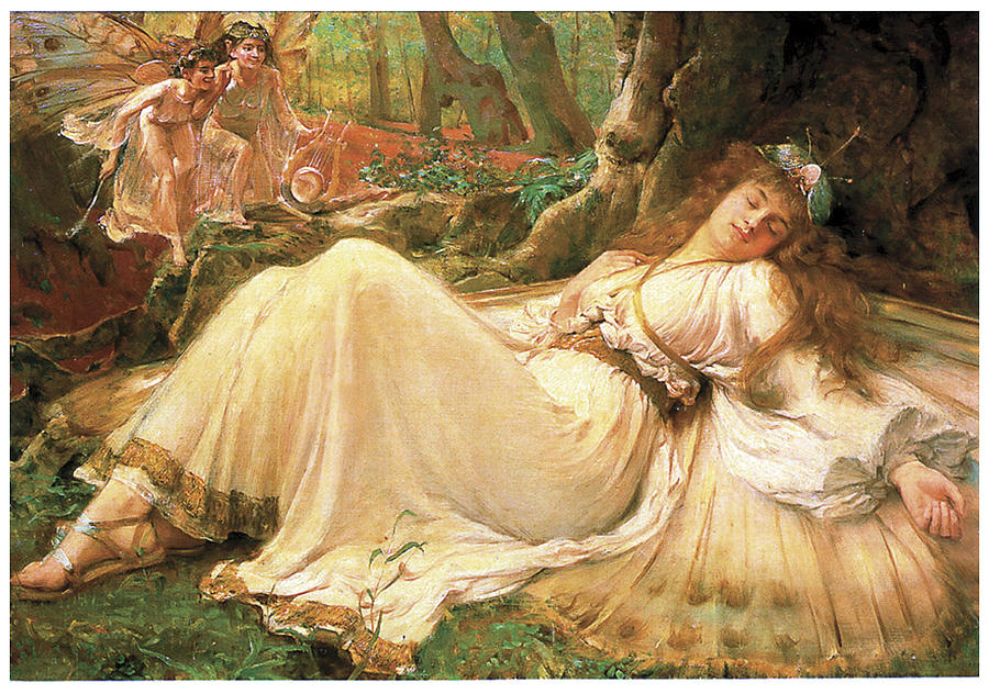 titania painting by frederick howard michael
