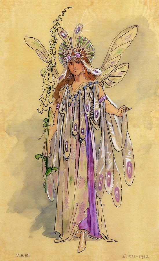 Titania Drawing - Titania Queen Of The Fairies A Midsummer Nights Dream by C Wilhelm