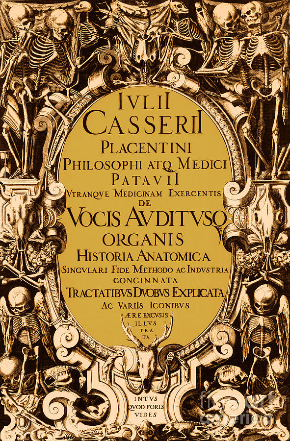 History Photograph - Title Page, Giulio Casserios Anatomy by Science Source