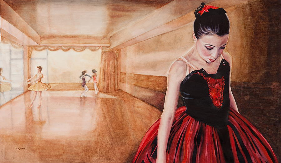 Ballerina Painting - To Dance To Dream by Kathy Michels