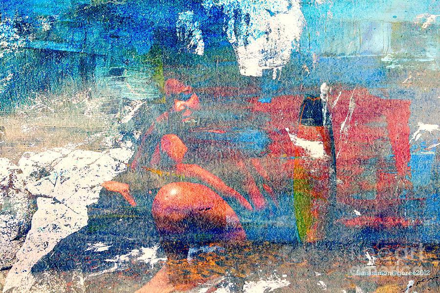 Yesayah Mixed Media - To Feel Blue by Fania Simon