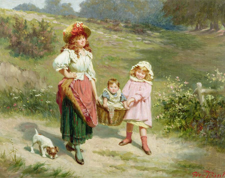 To Market Painting - To Market To Buy A Fat Pig by Edwin Thomas Roberts