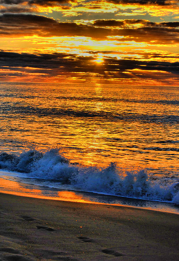 Sunrise Photograph - To Splash by Emily Stauring