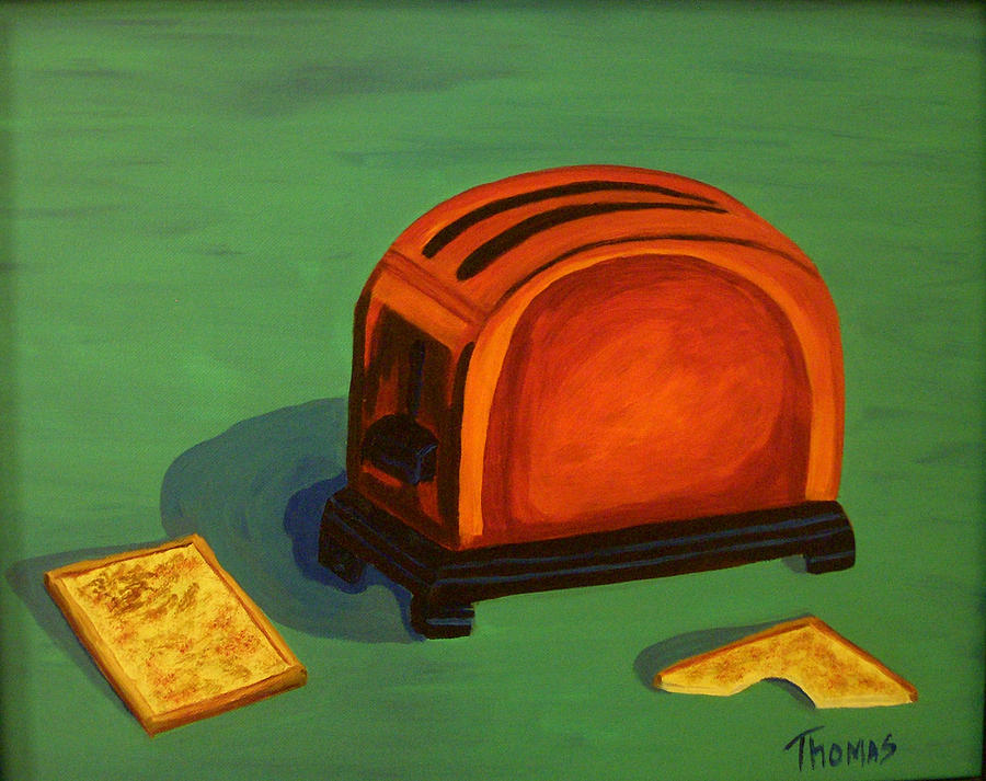 Food Painting - Toaster by Cynthia Thomas
