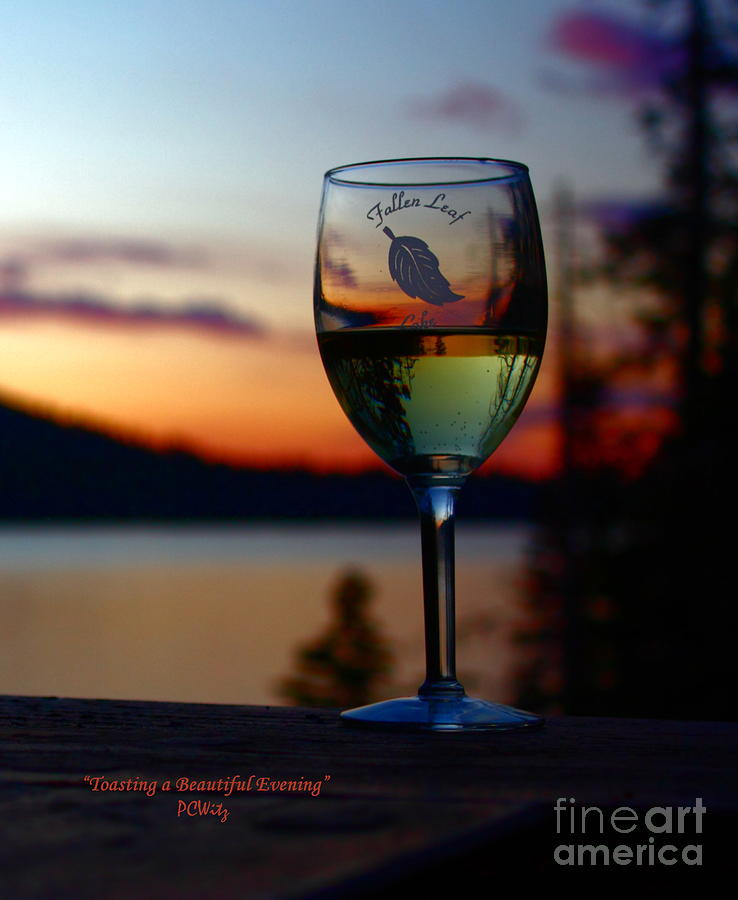 Toasting Photograph - Toasting A Beautiful Evening by Patrick Witz