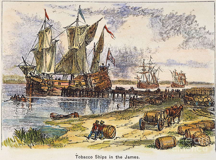 Tobacco Ships 1600s Photograph By Granger