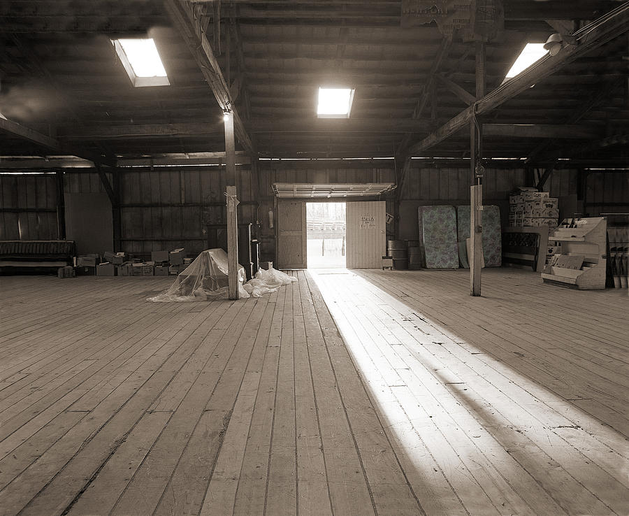 Hand-colored Photograph - Tobacco Warehouse by Jan W Faul