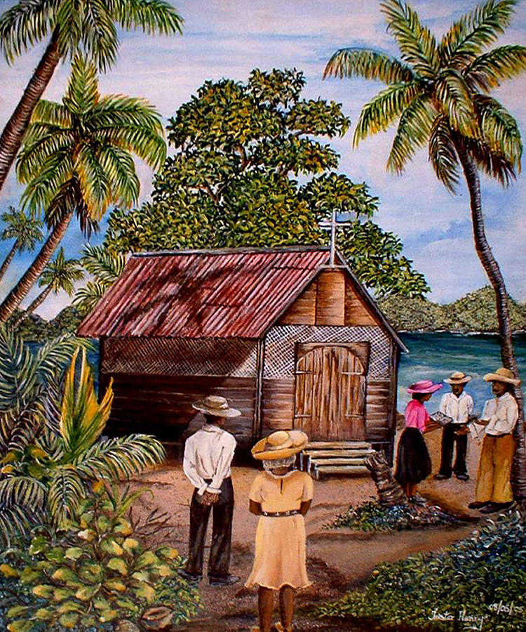 Trinidad Painting - Toco Church by Trister Hosang