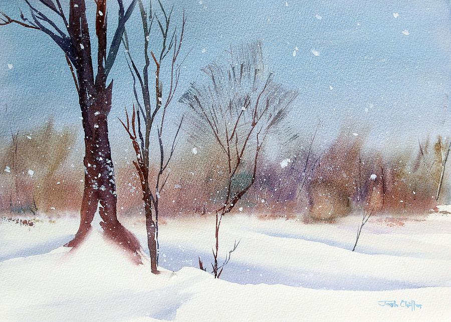 Winter Landscape Painting - Todays Blanket. by Josh Chilton