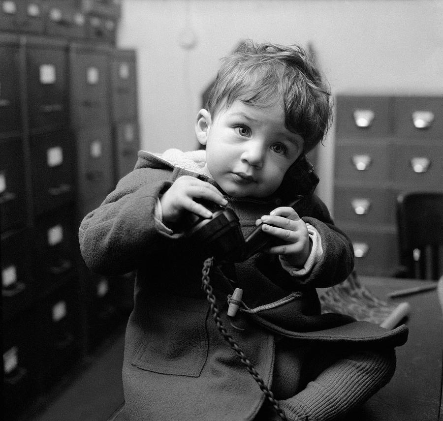 Child Photograph - Toddler Line by John Pratt