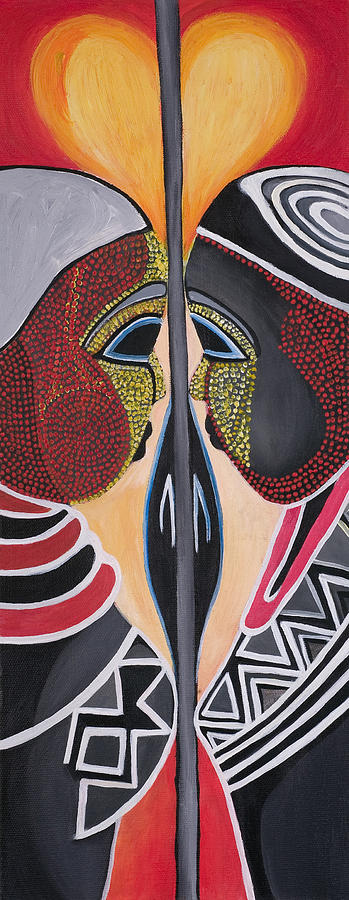 Together As One Painting by Chibuzor Ejims
