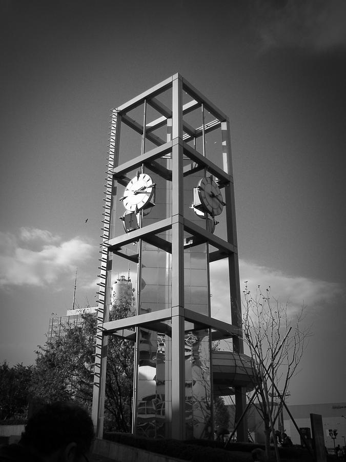 Tokyo Photograph - Tokyo City Clock by Naxart Studio