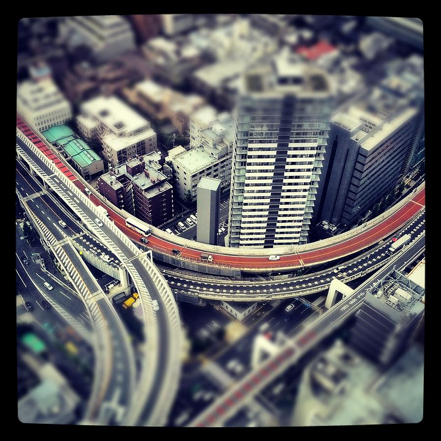 Square Photograph - Tokyo Highway by Frank Lee