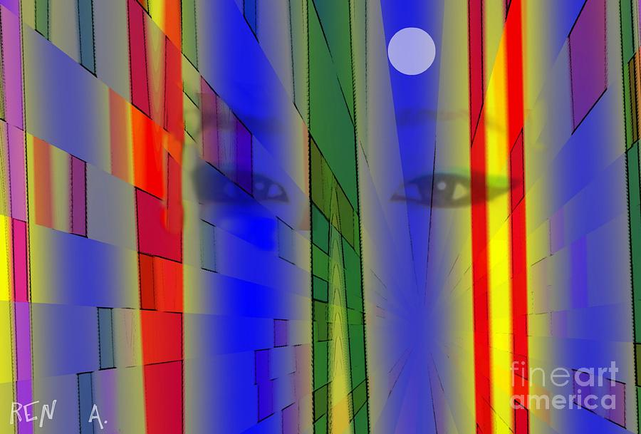 Nightlights Digital Art - Tokyo Night by Rene Avalos