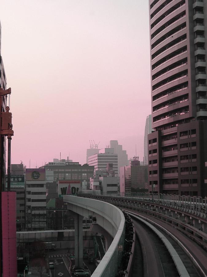 Tokyo Photograph - Tokyo Train Ride 6 by Naxart Studio