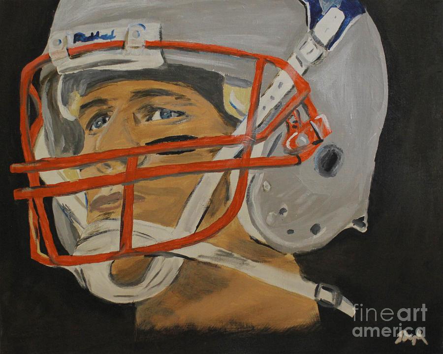 Football Painting - Tom Brady by Steven Dopka