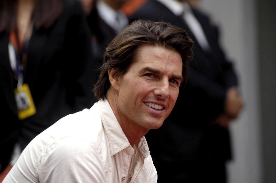 Tom Cruise Photograph - Tom Cruise At The Press Conference by Everett
