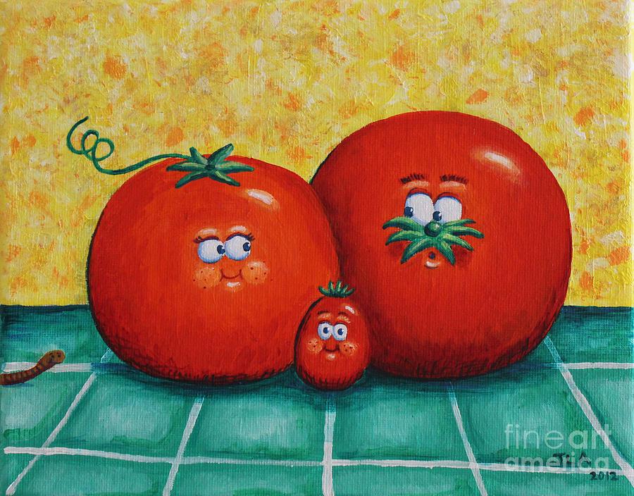 Tomato Painting - Tomato Family Portrait by Jennifer Alvarez