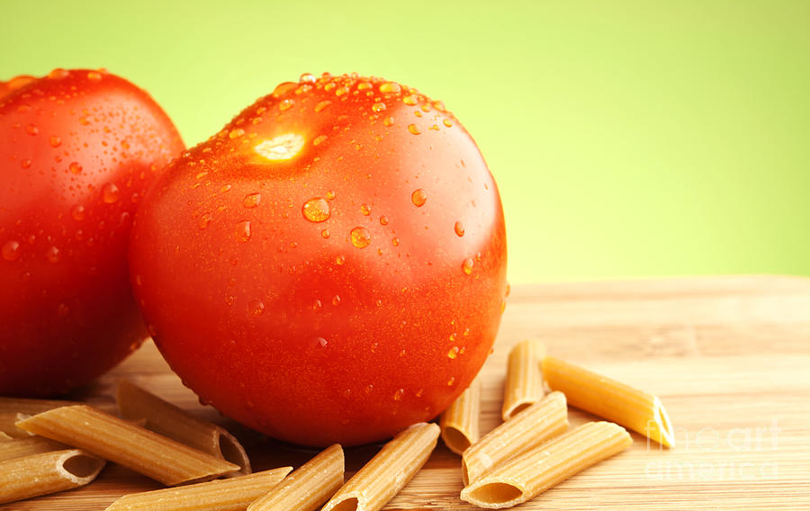 Tomato Photograph - Tomatoes And Pasta by Blink Images