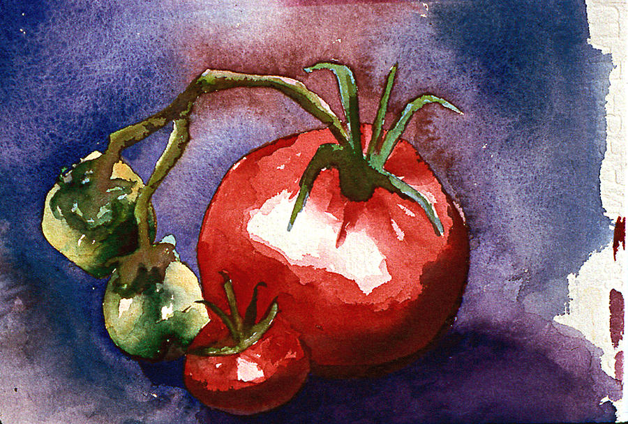 Still Life Painting - Tomatoes by Eunice Olson