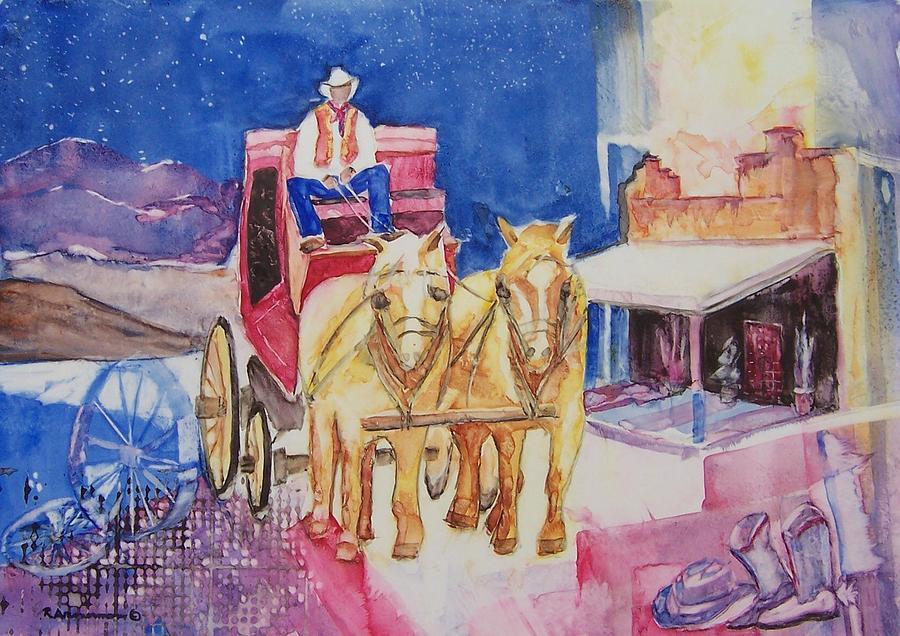 Western Pyrography - Tombstone by Regina Ammerman