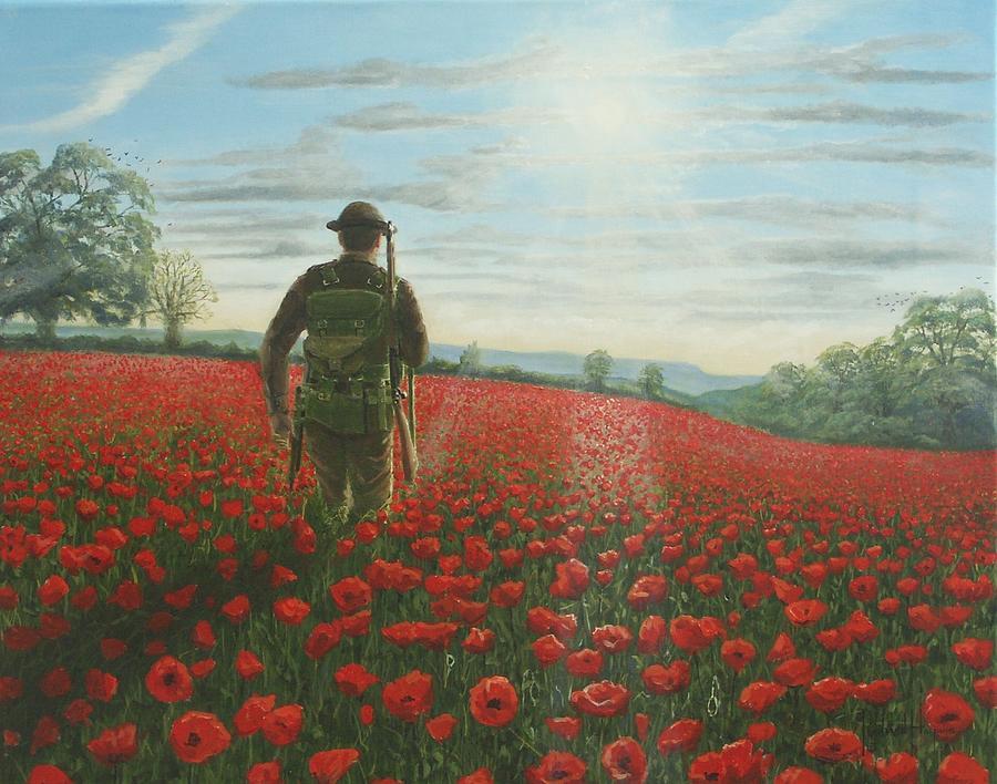 Ww1 Painting - Tommy 2 by Richard Harpum