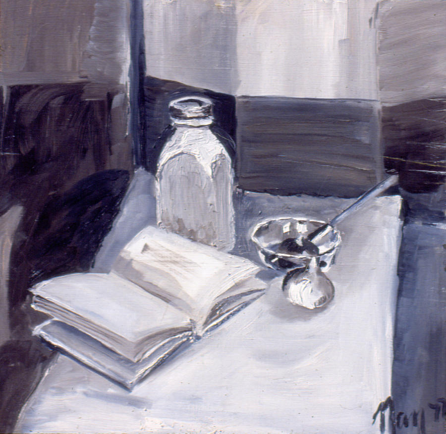 Still life painting tonal still life 1977 by nancy griswold